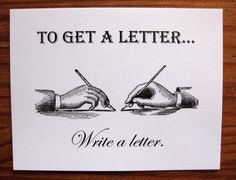 "Nothing takes the place of an ""old-fashioned"" letter"