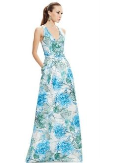 Theia Couture Sleeveless Floral Ball Gown 882757
