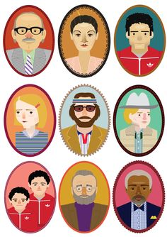 "mostlyfiction: "" The Royal Tenenbaums, by Siobhán Gallagher """