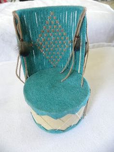 Miniature Artisan Southwest Chair in Ultra Suede by Gail Manning 1:12 scale