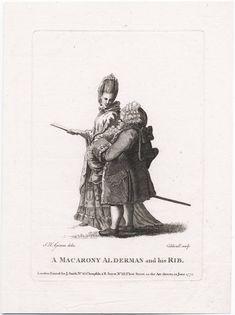 """A Macarony Alderman and his Rib"", 1772; LWL 772.06.20.01.1 lwlpr03387"