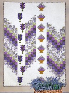 Lavender Fields by Patti Carey (from Quilt Trends Magazine Summer 2014 issue, on sale now)  www.quilttrendsmag.com