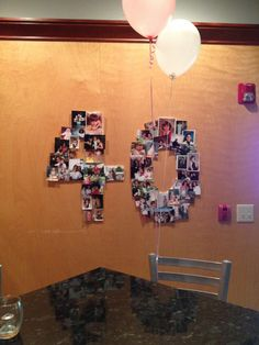 40th birthday picture decoration!