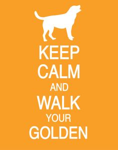 Keep Calm and Walk Your Golden Poster by PostersPersonalized, $17.00