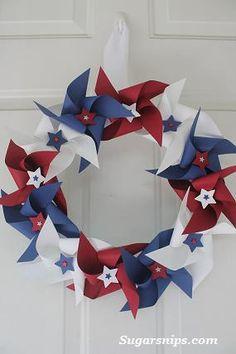 pinwheel wreath from Sugarsnips