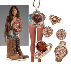 """Brown Suga on Friday"" by kcfash on Polyvore"