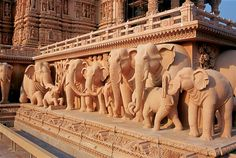 Akshardham Temple, Delhi, India  Obsessed with this place, and the elephant statues