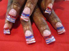 4th of july stripes by Oli123 - Nail Art Gallery nailartgallery.nailsmag.com by Nails Magazine www.nailsmag.com #nailart