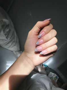 Related posts:Long nails with gold glitterLovely burgundy nailsLight blue and pink nails with sweet details Hot Nails, Pink Nails, Hair And Nails, White Stiletto Nails, Glitter Nails, Nail Manicure, Nail Polish, Cute Acrylic Nails, Holographic Nails Acrylic