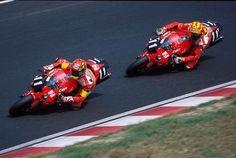 Valentino Rossi VR46 & Colin Edwards. Suzuka 2001. Honda VTR SP1 RC51.