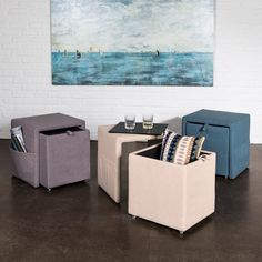 This beautiful ottoman has a sleek design that has various functions. This sleek beauty will enhance the decor of any room in the home while providing incredible versatility.