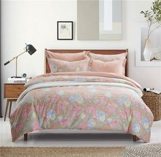 Blossom Orange Bedding Set Teen Bedding Dorm Bedding Bedding Collection Gift Idea Teen Bedding, Modern Bedding, Pillow Shams, Pillows, Orange Bedding, Rounded Rectangle, Flat Sheets, Floral Style, Bedding Collections
