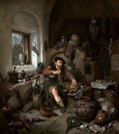 The Alchemist Cornelis Bega, 1663 via Artiste Peintre FB