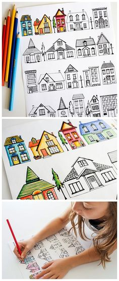 Free printable house coloring pages - a wonderful resource for teachers, homeschoolers and parents. Also a fun and educational way to entertain kids.