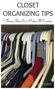Make closet organization easier with these 3 tips and ideas!