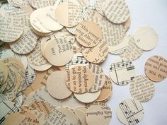 Book page 'confetti' for decor Reception Decorations, Event Decor, Wedding Bells, Wedding Events, Book Page Crafts, Dream Wedding, Wedding Dreams, Wedding Things, Wedding Stuff