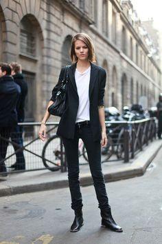 black blazer.