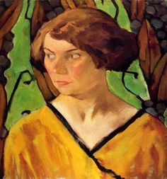 Portrait of a Girl, Koloman Moser.