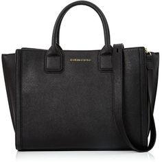 Karl Lagerfeld K/Klassik Office Tote (17.680 RUB) ❤ liked on Polyvore featuring bags, handbags, tote bags, black, fold over handbag, tote bag purse, tote purses, karl lagerfeld tote and handbags totes