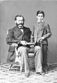 O pequeno Sigmund e seu pai, Jacob Freud