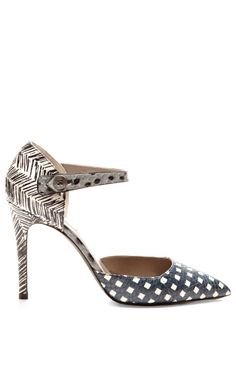 Shop Printed Snakeskin Mary-Jane Pumps by Marc Jacobs Now Available on Moda Operandi