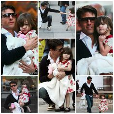 Actor - ator - hair - cabelo - pelo - beautiful - bonita - hermoso - eye - olho - ojo - blue - moda - look - style - estilo - inspiration - inspiração - inspiración - fashion - elegant - elegante - chic - dress - vestido - floral - Janie and Jack - Shoes - sapato - Bonpoint - black - preto - child - criança - niña - menina - girl - baby - bebê - daughter - filha - hija - father - pai - padre - dad - papai - papá - October - 2008 - Suri Cruise - Tom Cruise