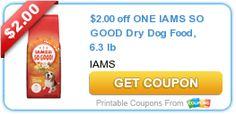 Printable #Coupons for Iams Dog & Cat Food