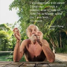 Tommy Chong, cancer-free.  #420