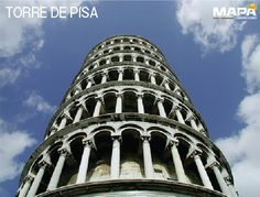 #SabíasQue: #TorreDePisa, realizada por los Arq. Guglielmo y Bonanno Pisano, es un campanario de estilo gótico, siendo de cuerpo románico y campanario de coronación gótico. #Italia