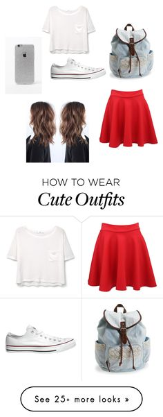 """Cute a outfit of the day"" by talexis15 on Polyvore featuring MANGO, Pilot, Converse, Aéropostale and LA: Hearts"