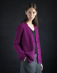 WOLFEN / CARDIGAN / KNITTED FROM LAMBSWOOL AND COTTON / www.wolfengermany.com