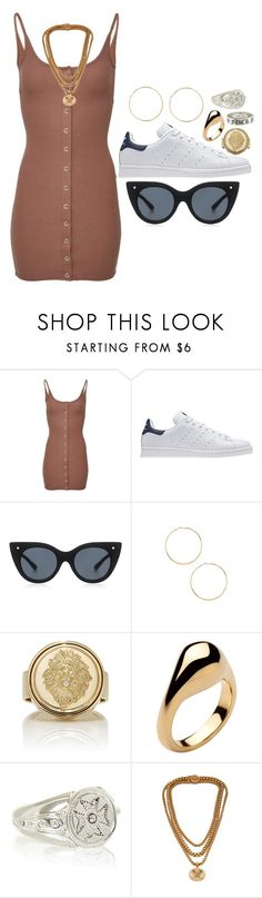 """I fall apart"" by liberhty ❤ liked on Polyvore featuring adidas Originals, Le Specs Luxe, Forever 21, Foundrae, Jennifer Fisher, Chrome Hearts and Versace"