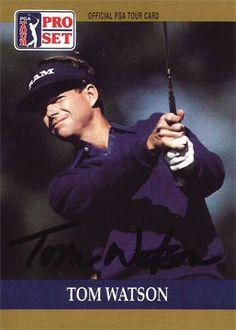 PGA Golf Professional Tom Watson Autograph Hand Signed 1990 Pro Set #4