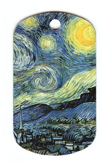 Just what yo need, a Starry Night dog tag (on eBay).