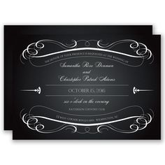 Crisp and Classic - Invitation   Invitations By David's Bridal