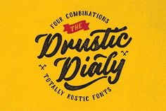 Drustic Dialy by AF Studio on @creativemarket