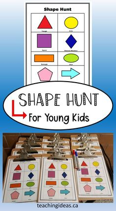 This fun, engaging shape activity makes learning exciting and connects to real life.  Printable included for activity.  #shapesactivitypreschool #shapes #shapesactivities Learning Games For Preschoolers, Educational Activities For Kids, Outdoor Activities For Kids, Preschool Learning, Fun Learning, Toddler Learning, Geometry Activities, Preschool Activities, Teaching Kindergarten
