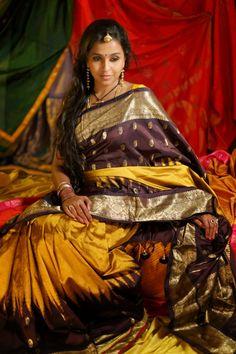 Exclusive Collection of Indian Celebrity Sarees and Designer Blouses Bridal Silk Saree, Saree Wedding, Wedding Wear, Tamil Girls, Simple Sarees, Indian Bridal Hairstyles, Yellow Saree, Indian Silk Sarees, Saree Photoshoot