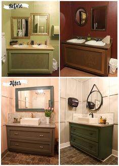Before & After Restaurant Bathroom Makeover