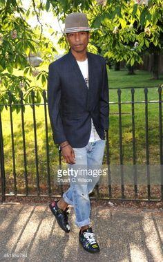 LONDON, ENGLAND - JULY 01: Pharrell Williams attends the annual... #ferrel: LONDON, ENGLAND - JULY 01: Pharrell Williams attends… #ferrel