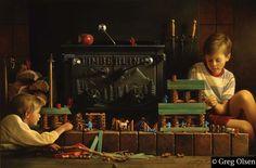 """""""Lincoln Logs"""" by Greg Olsen"""