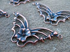 Copper Butterfly Pendants Antiqued Copper by AliCsSupplyShop, $2.00