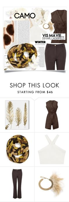 """""""Inside the Camo Style"""" by fabfabiana ❤ liked on Polyvore featuring Oliver Gal Artist Co., Oris, WithChic, MICHAEL Michael Kors, BCBGMAXAZRIA, Viyella, Toi Et Moi, Brother Vellies and camostyle"""