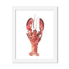 lobster - 8 x 10 print - JustGreet Watercolours, Art Prints, Art Impressions