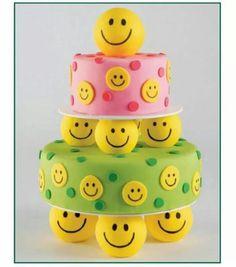 Smiley cake.