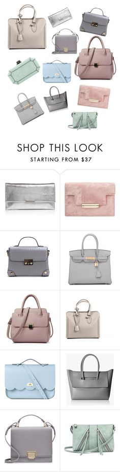 """Geen titel #17"" by xanahonore ❤ liked on Polyvore featuring Loeffler Randall, Hermès, Alexander McQueen, The Cambridge Satchel Company, Smythson, A.N.A and Edie Parker"