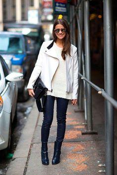 Amanda Weiner в прикольной белой куртке
