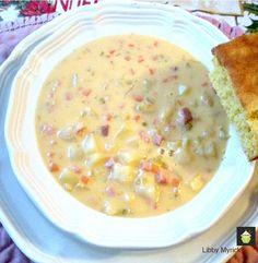 Prize Winning Cheddar and Ham Chowder  #soup #chowder #cheese #ham