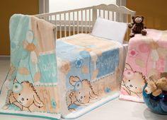 Dětská deka MINK BABY ve třech různých odstínech s nádhernými motivy medvídků.
