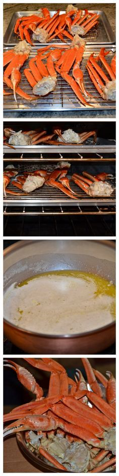 Easy, fun, and romantic dinner for two at home:  Roasted Crab Legs and Melted Butter!